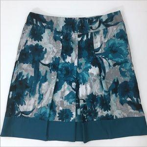 Ann Taylor Floral Pleated Skirt w/ Pockets✨